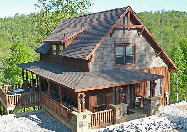 Mountain rustic plan 2 000 square feet 4 bedrooms 3 for Small mountain house plans