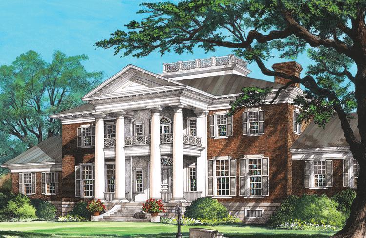 Colonial Plan: 10,735 Square Feet, 6 Bedrooms, 8 Bathrooms - 7922-00195