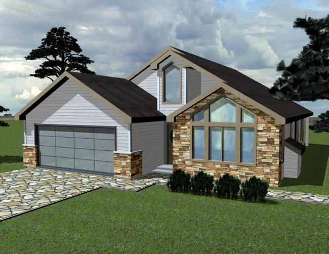 3 Bed, 2 Bath, 1573 Square Foot House Plan - #039-00228