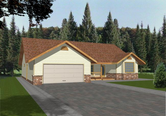 3 Bed, 2 Bath, 1740 Square Foot House Plan - #039-00229