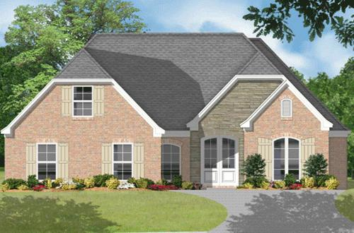 Traditional plan 2 131 square feet 3 bedrooms 2 5 for 110 square feet room