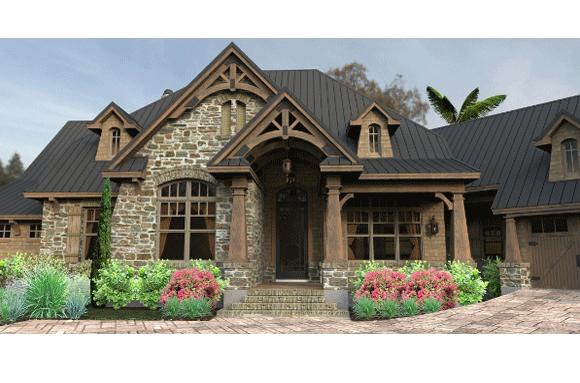 Craftsman plan 2 466 square feet 3 bedrooms 2 bathrooms for French country ranch home plans