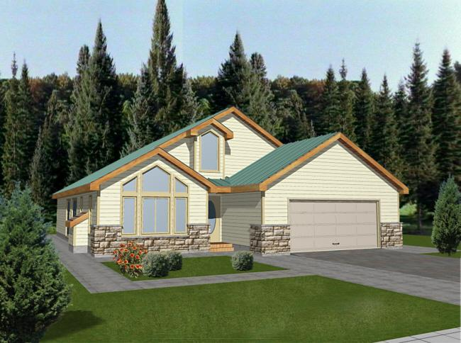 3 Bed, 2 Bath, 1659 Square Foot House Plan - #039-00271