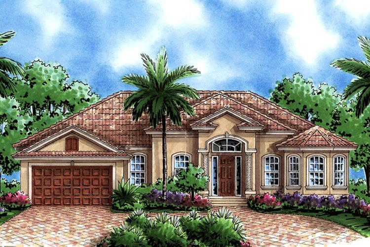 Mediterranean plan 1 786 square feet 2 3 bedrooms 2 5 bathrooms 1018 00006 - Calculate square footage of house concept ...