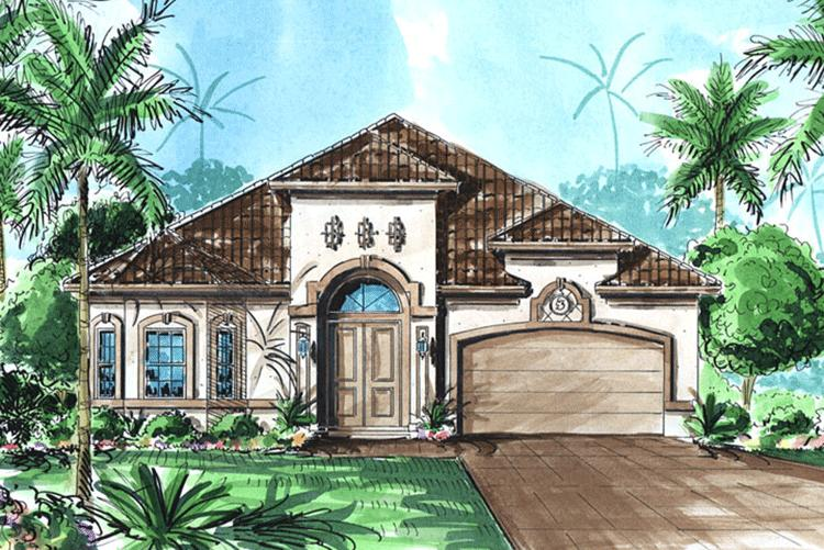 3 Bed, 2 Bath, 2457 Square Foot House Plan - #1018-00022