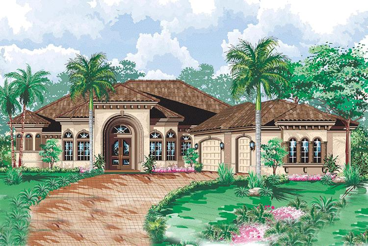 3 Bed, 4 Bath, 3349 Square Foot House Plan - #1018-00093