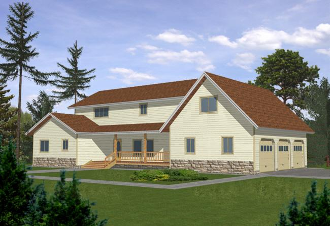 4 Bed, 3 Bath, 3036 Square Foot House Plan - #039-00289