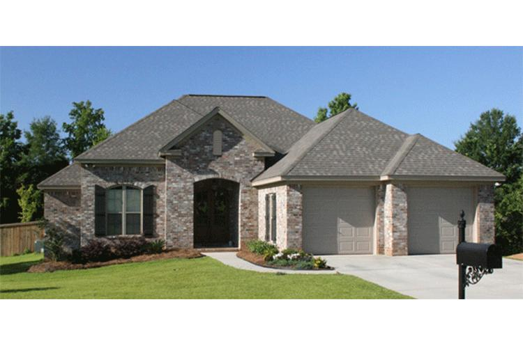 European plan 1 600 square feet 3 bedrooms 2 bathrooms for Sq ft of 2 car garage