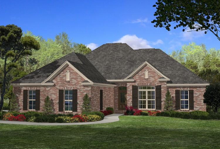 Traditional plan 2 107 square feet 4 bedrooms 2 5 for 110 square feet room