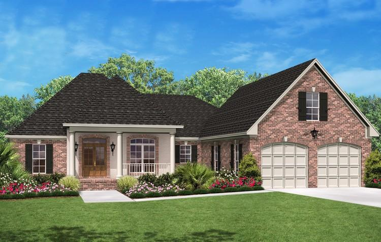European plan 2 000 square feet 3 bedrooms 2 5 for 2000 sq ft country house plans