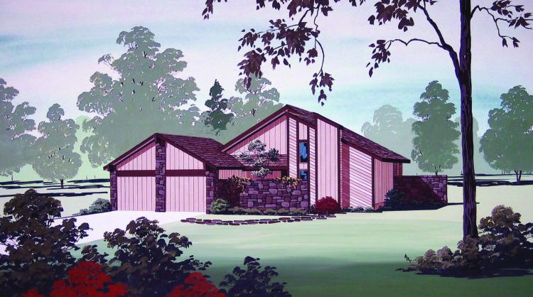 3 Bed, 2 Bath, 1407 Square Foot House Plan - #048-00060