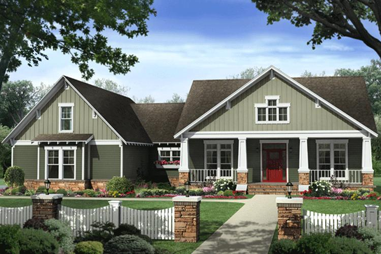Craftsman Plan    Square Feet  Bedrooms    Bathrooms      House Plan