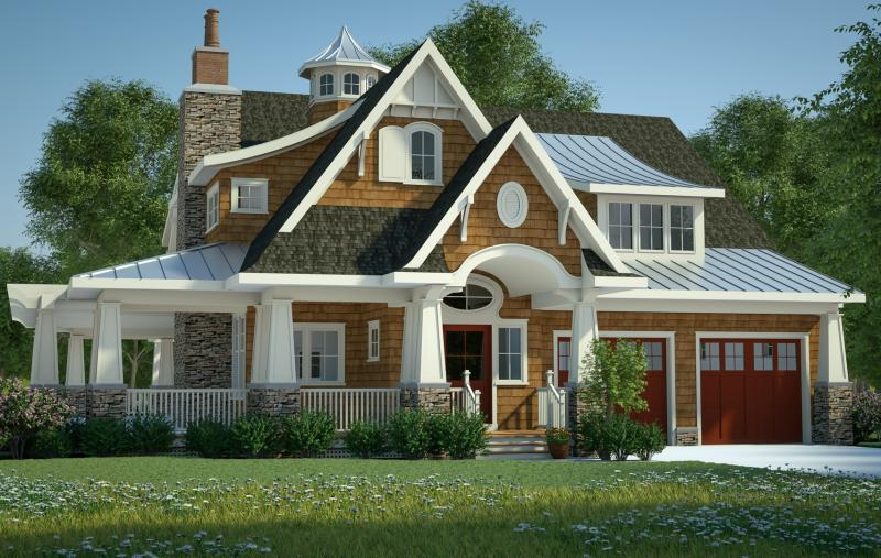 Craftsman Plan: 3,197 Square Feet, 4 Bedrooms, 3.5