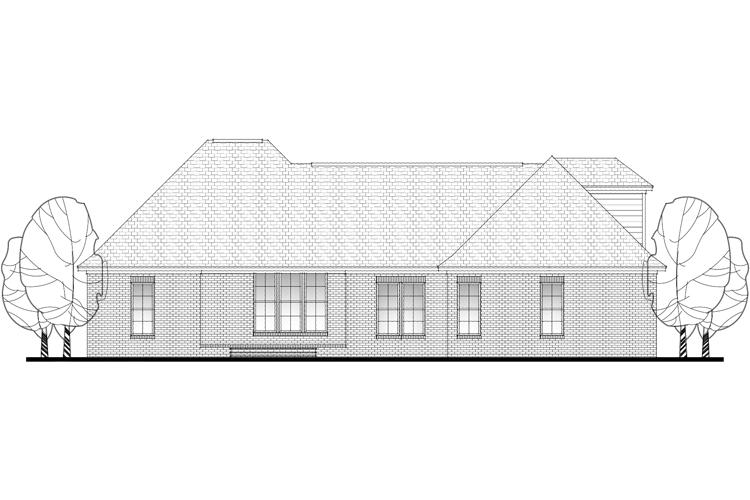 French Country House Plan #041-00089 Elevation Photo