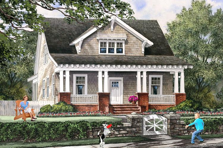 Bungalow Plan: 1,907 Square Feet, 4 Bedrooms, 3 Bathrooms - 7922-00219