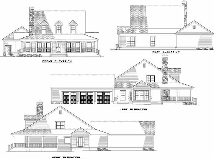 Farmhouse Plan 2 173 Square Feet 4 Bedrooms 3 Bathrooms