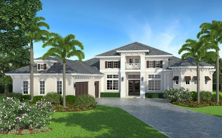 Coastal House Plan #5565-00014 Elevation Photo