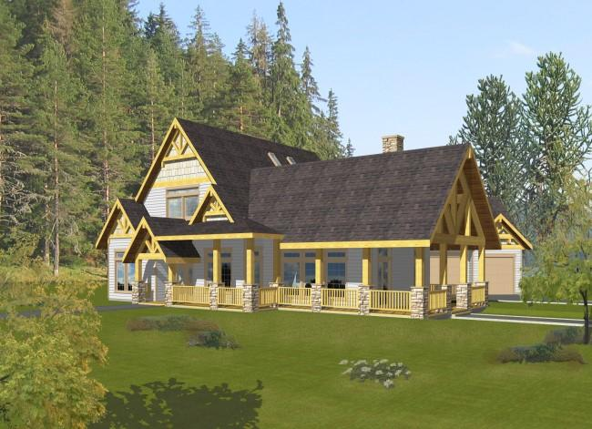4 Bed, 4 Bath, 4013 Square Foot House Plan - #039-00467