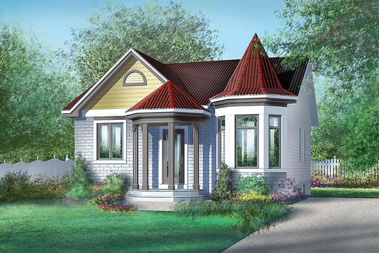 2 Bed, 1 Bath, 926 Square Foot House Plan - #6146-00007