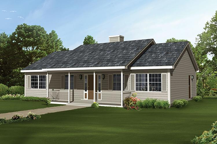 3 Bed, 2 Bath, 1364 Square Foot House Plan - #5633-00315