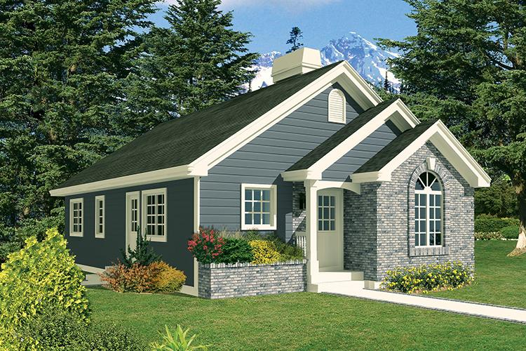 3 Bed, 1 Bath, 1112 Square Foot House Plan - #5633-00326