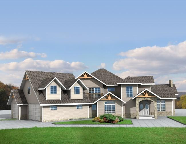 3 Bed, 2 Bath, 3877 Square Foot House Plan - #039-00479