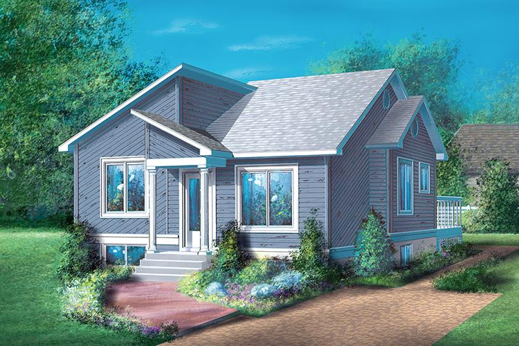 2 Bed, 1 Bath, 900 Square Foot House Plan - #6146-00013