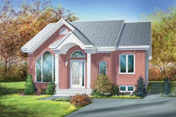 2 Bed, 1 Bath, 961 Square Foot House Plan - #6146-00035