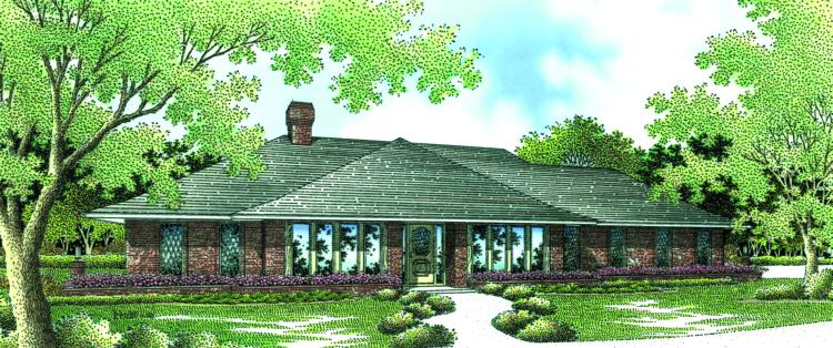 4 Bed, 4 Bath, 2564 Square Foot House Plan - #048-00158
