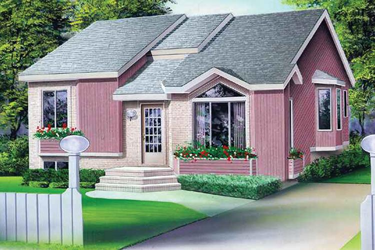 3 Bed, 1 Bath, 1103 Square Foot House Plan - #6146-00122