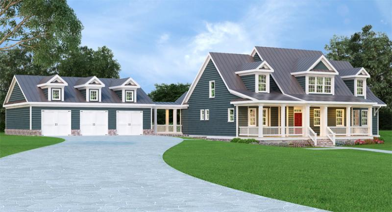 Cape Cod Plan: 3,362 Square Feet, 3 Bedrooms, 2.5 ...