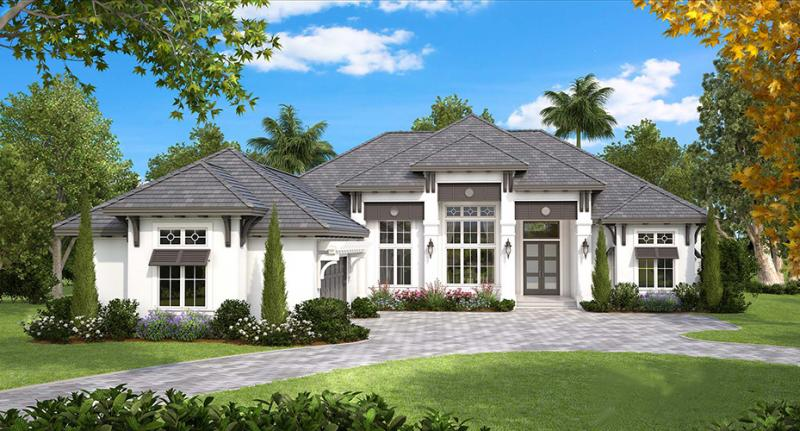 4 Bed, 4 Bath, 4089 Square Foot House Plan - #1018-00232