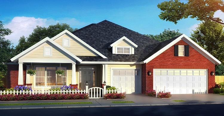 4 Bed, 3 Bath, 2425 Square Foot House Plan - #4848-00345