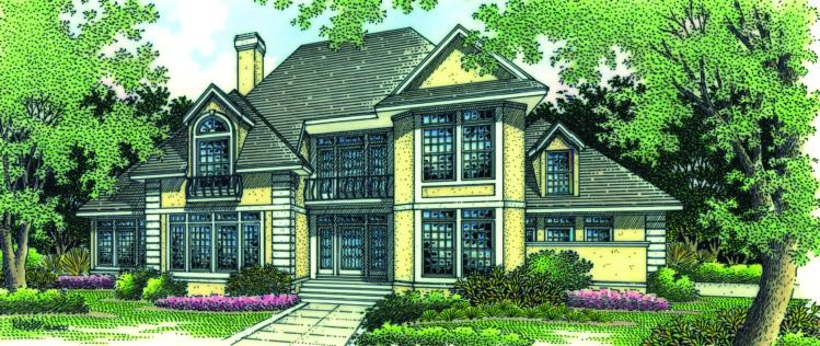 4 Bed, 3 Bath, 2743 Square Foot House Plan - #048-00172