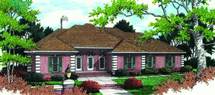 4 Bed, 2 Bath, 2936 Square Foot House Plan - #048-00181