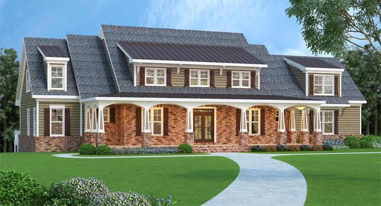 4 Bed, 3 Bath, 3735 Square Foot House Plan - #009-00068