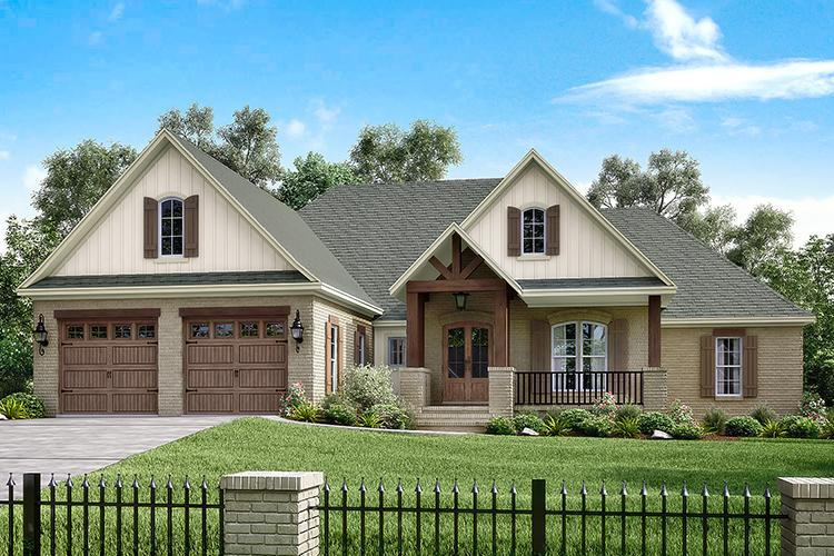 French country plan 2 329 square feet 4 bedrooms 2 5 for French house plans 2000 square feet