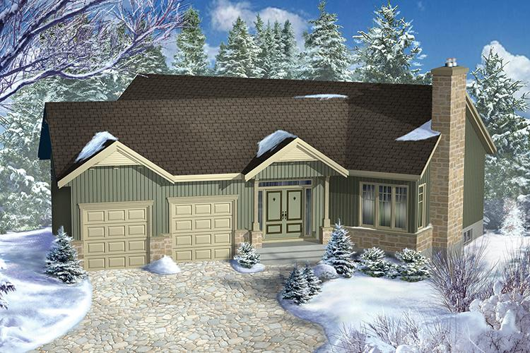 2 Bed, 2 Bath, 1553 Square Foot House Plan - #6146-00329