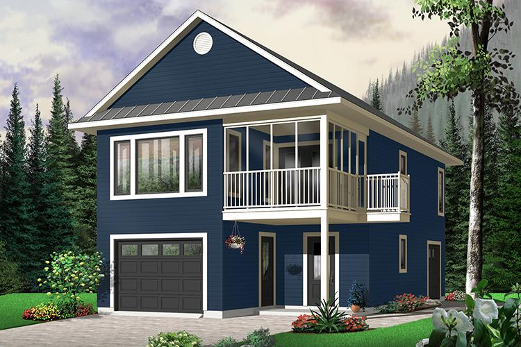 2 Bed, 1 Bath, 1080 Square Foot House Plan - #034-00063