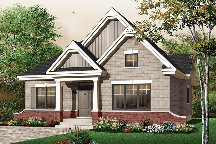 3 Bed, 1 Bath, 1490 Square Foot House Plan - #034-00612