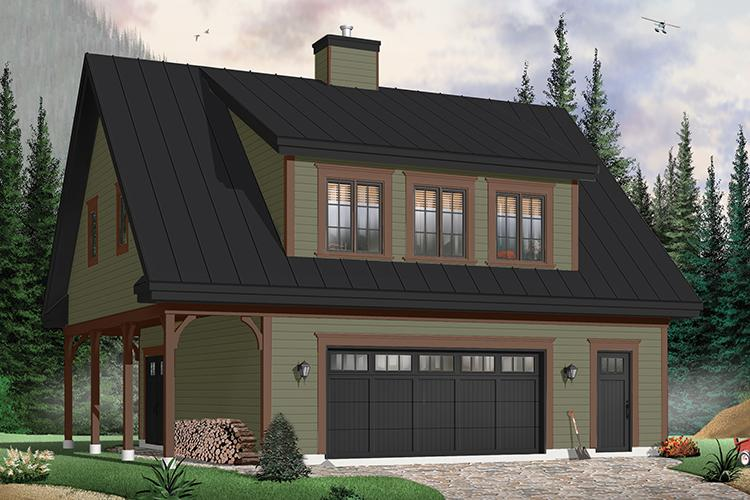 2 Bed, 2 Bath, 1096 Square Foot House Plan - #034-00109