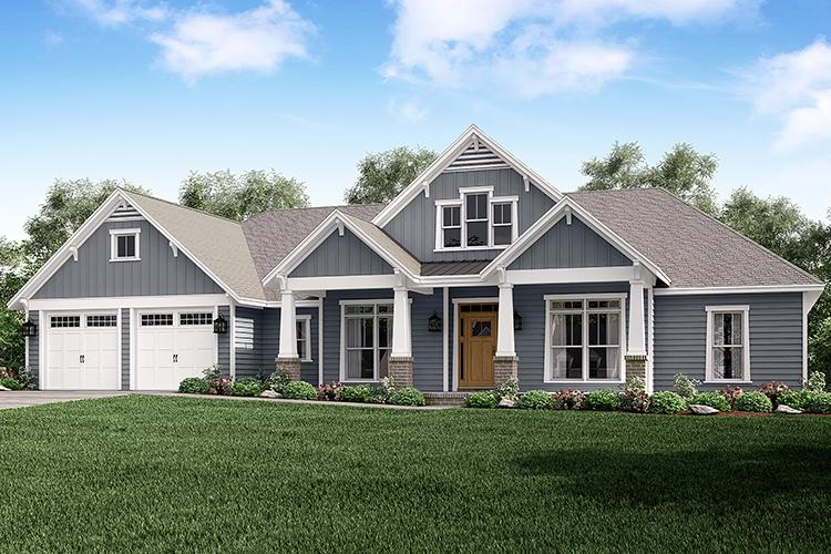 4 Bed, 3 Bath, 2759 Square Foot House Plan - #041-00167