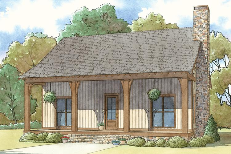 Cottage Plan: 1,814 Square Feet, 3 Bedrooms, 2.5 Bathrooms