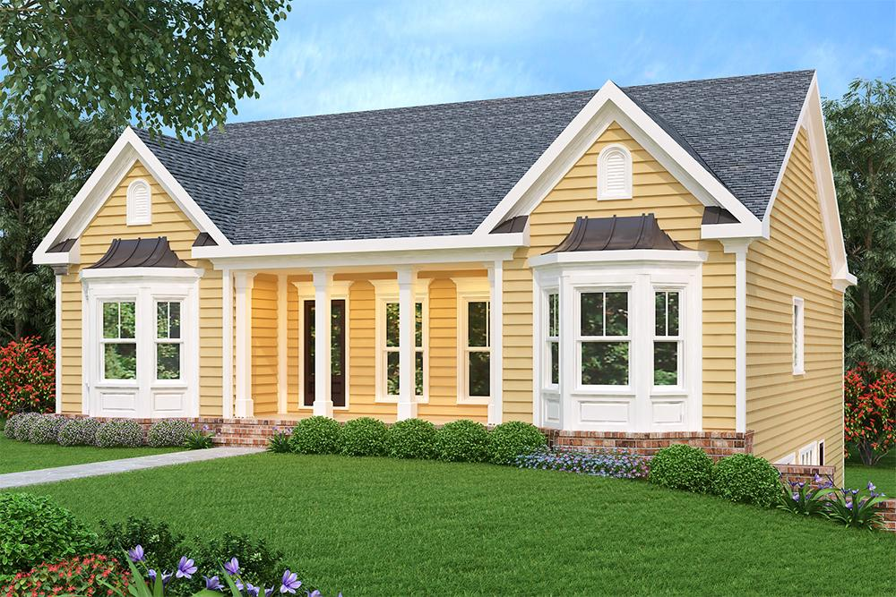 3 Bed, 2 Bath, 1678 Square Foot House Plan - #009-00084