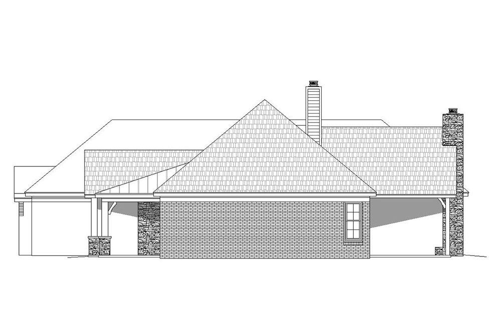 Ranch House Plan #940-00062 Elevation Photo