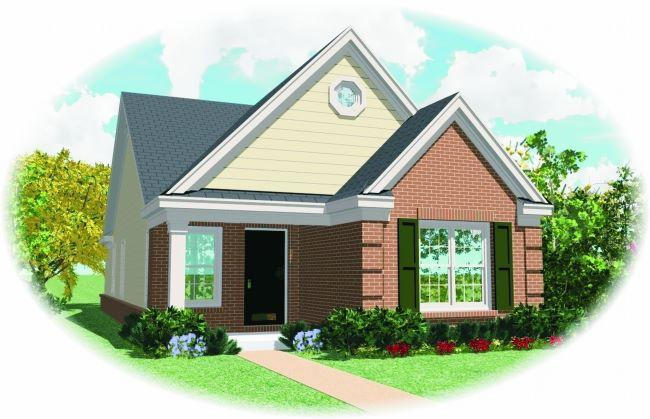 2 Bed, 2 Bath, 1163 Square Foot House Plan - #053-00089