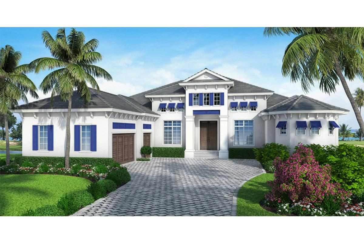 4 Bed, 4 Bath, 4271 Square Foot House Plan - #5565-00015