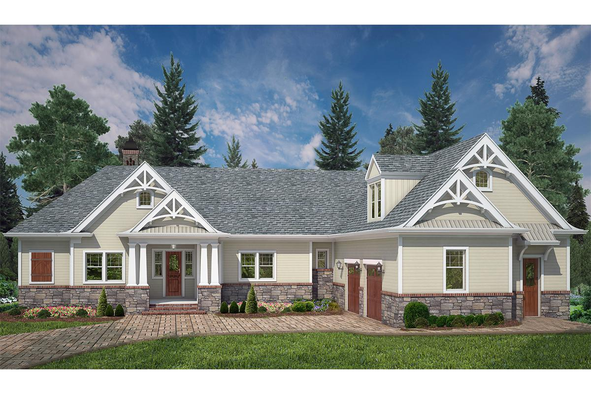 4 Bed, 3 Bath, 2355 Square Foot House Plan - #4195-00021