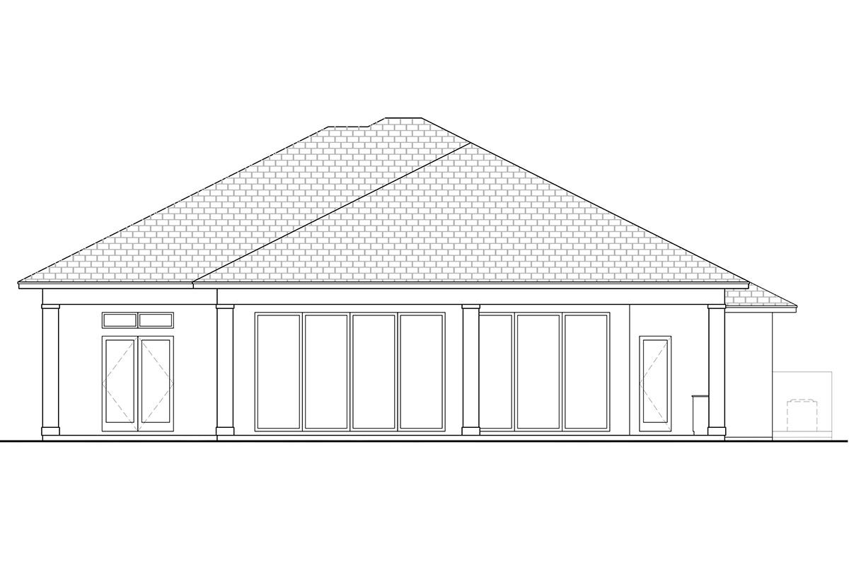 Florida House Plan #207-00061 Elevation Photo