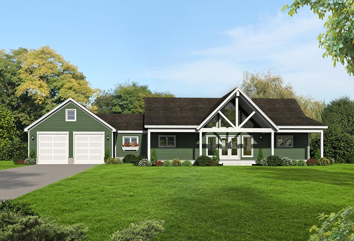 2 Bed, 2 Bath, 1650 Square Foot House Plan - #940-00079